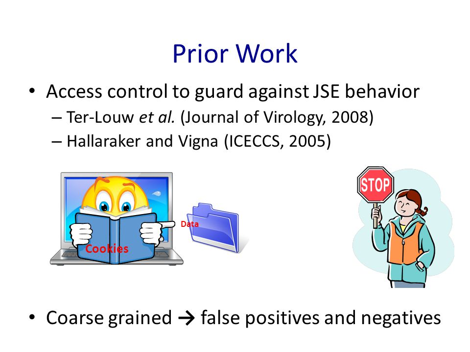 Prior Work Access control to guard against JSE behavior – Ter-Louw et al.