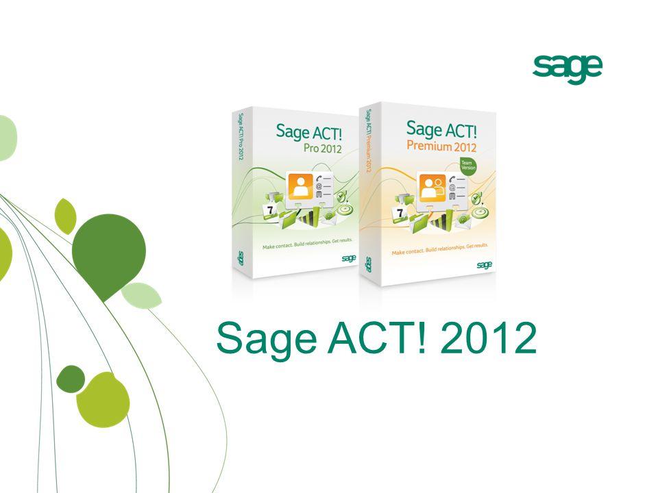 Sage ACT! 2012
