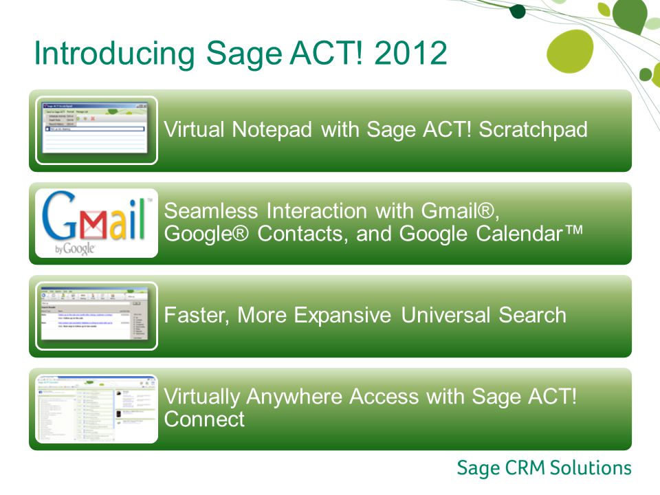 Introducing Sage ACT Virtual Notepad with Sage ACT.