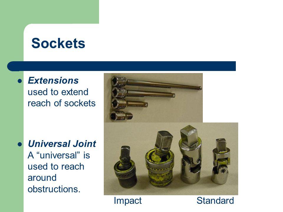 Swivel sockets Impact or Wobbly sockets crowfeet Sockets