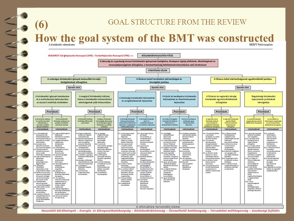 41 (6) GOAL STRUCTURE FROM THE REVIEW How the goal system of the BMT was constructed