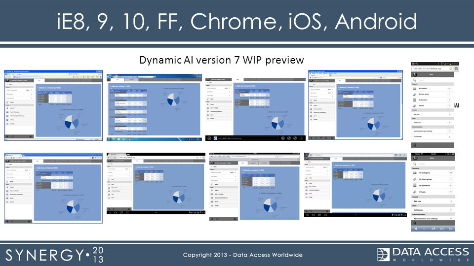 iE8, 9, 10, FF, Chrome, iOS, Android Dynamic AI version 7 WIP preview
