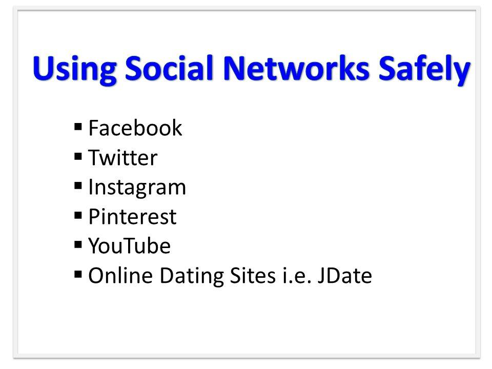  Facebook  Twitter  Instagram  Pinterest  YouTube  Online Dating Sites i.e. JDate