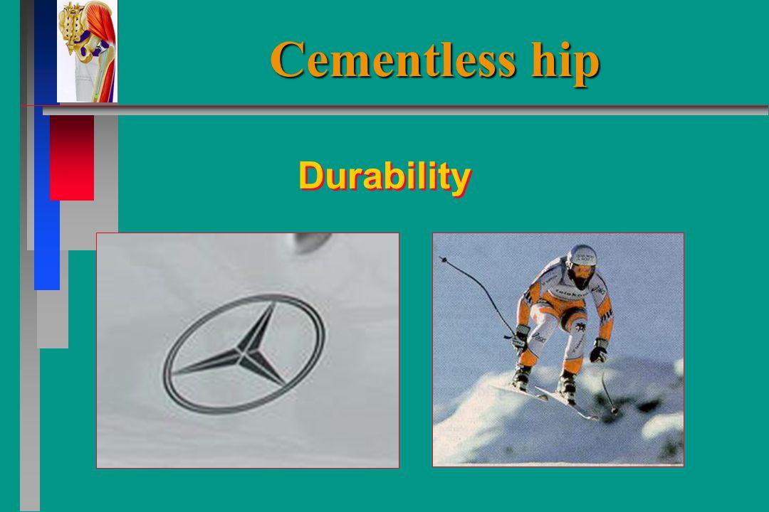Cementless hip Durability