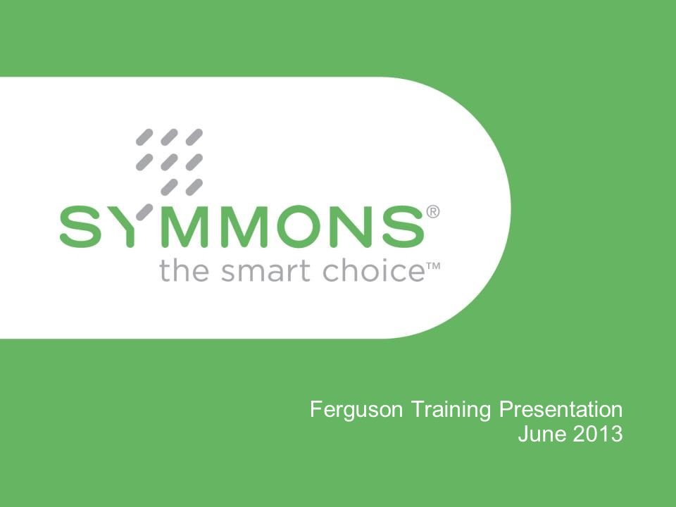 Ferguson Training Presentation June 2013