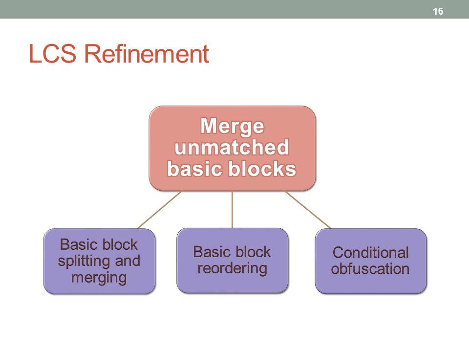 LCS Refinement 16