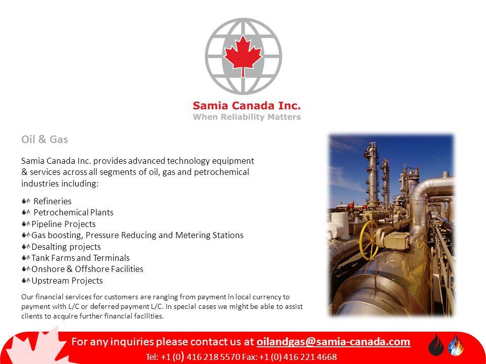 Oil & Gas Samia Canada Inc.