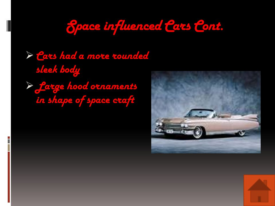 Space influenced Cars Cont.