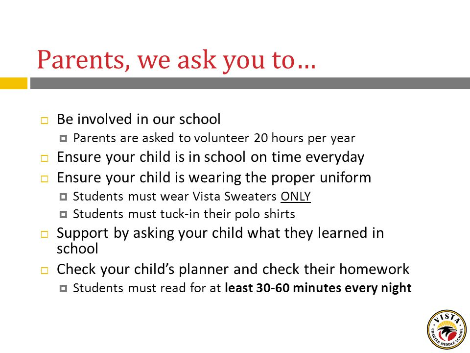 School Responsibilities  Provide a safe learning environment  Monitor students' progress in their Personal Learning Plans  Course assessments  School assessments are every 3 weeks  Quarterly assessments are every 9 weeks  Provide parents access to staff through email, phone calls, personal conferences, etc.