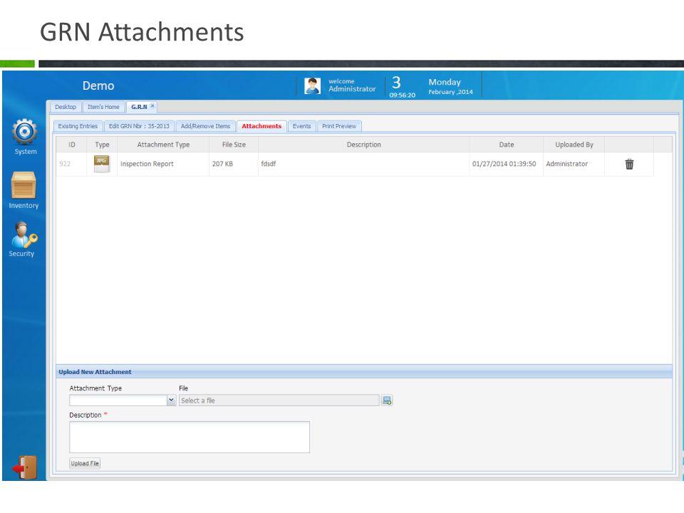 GRN Attachments