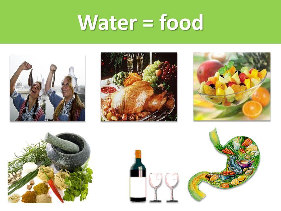 Water = food