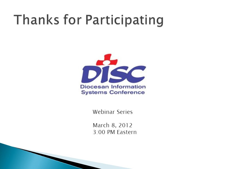 Webinar Series March 8, 2012 3:00 PM Eastern
