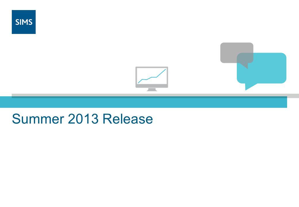 Summer 2013 Release