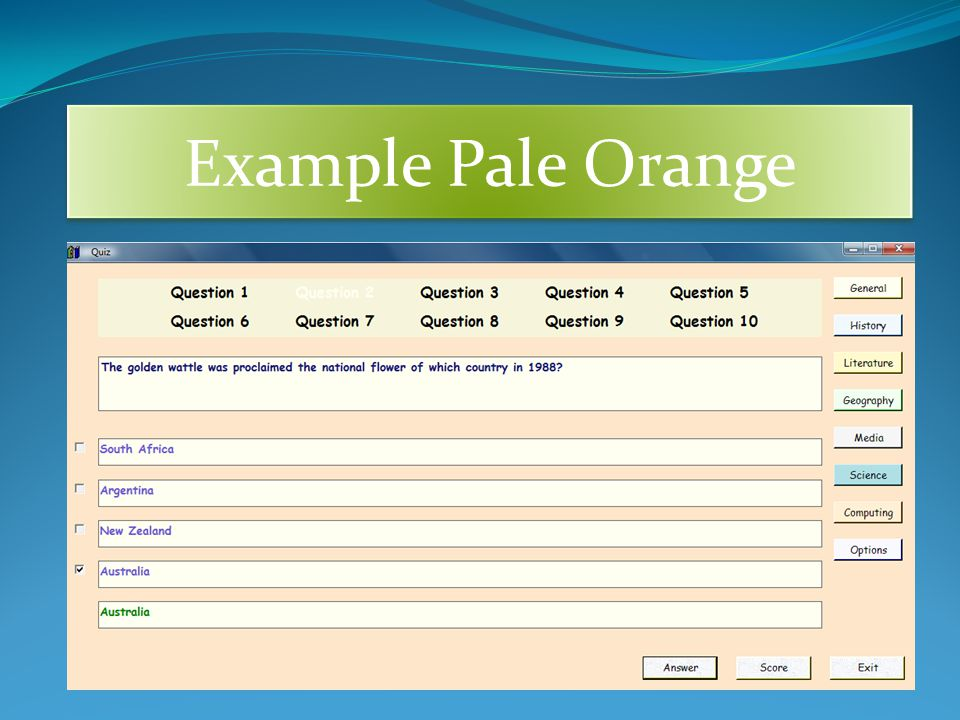Example Pale Orange