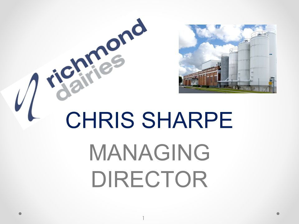 Richmond Dairies draws milk from Queensland and New South Wales Direct Supply Farms Arrangements with other Processors Products are exported to world markets 2 WHO ARE WE?