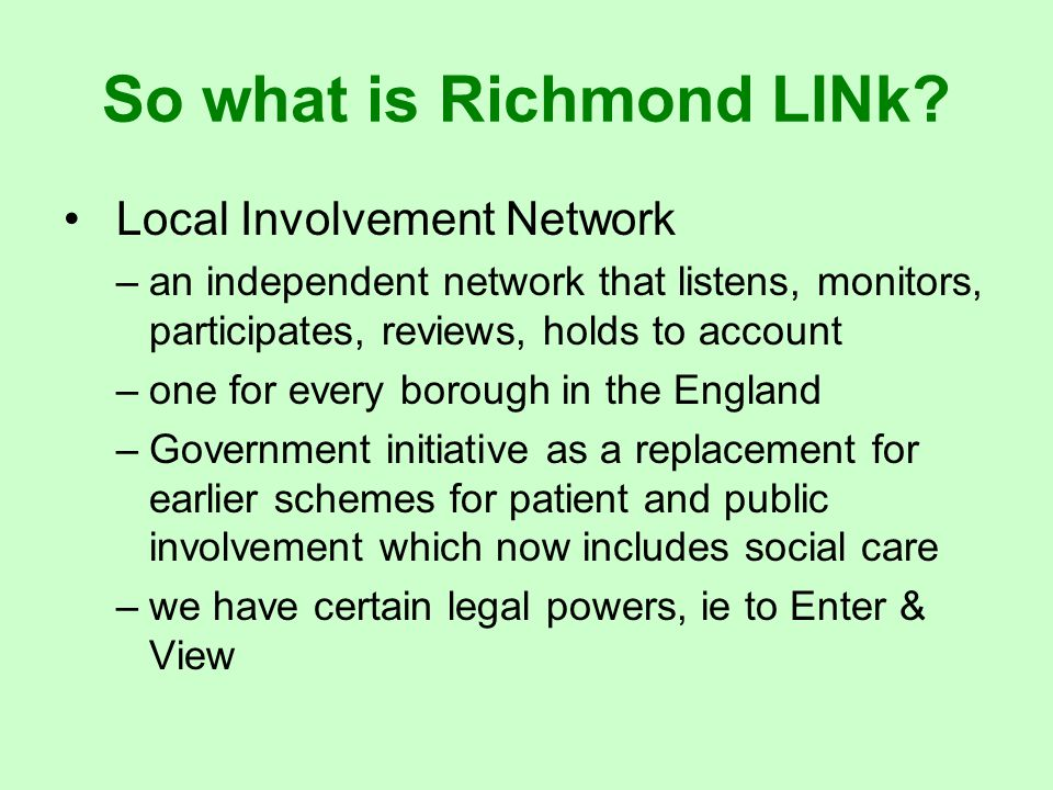 So what is Richmond LINk.