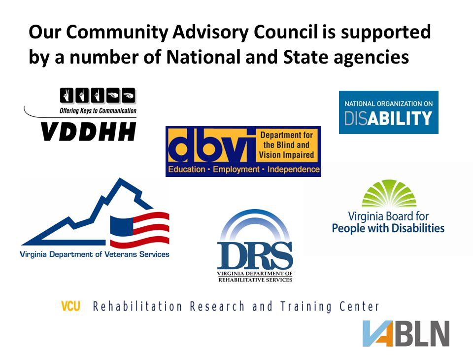 Our Community Advisory Council is supported by a number of National and State agencies