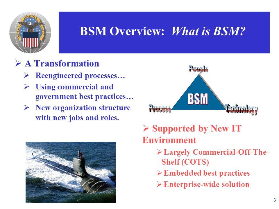 3 BSM Overview: What is BSM.
