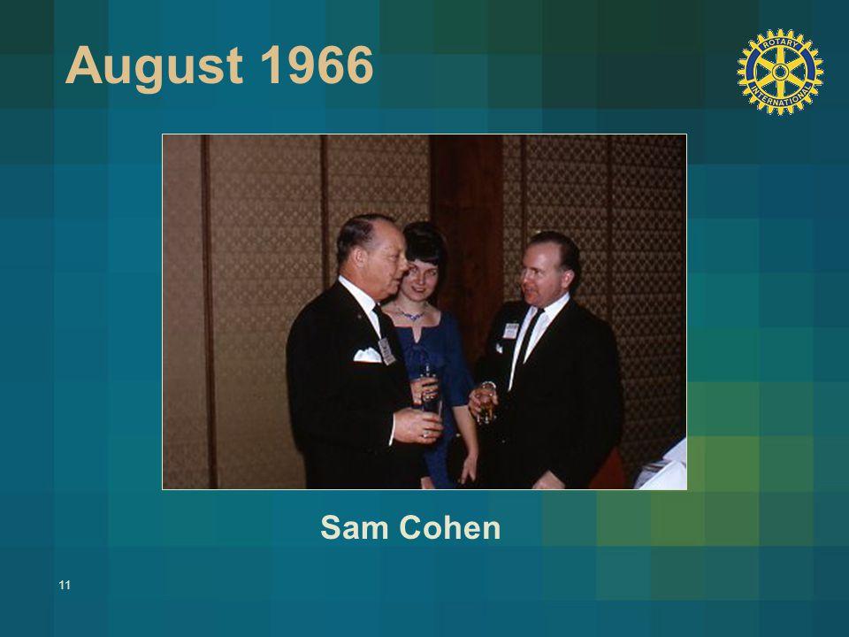 11 August 1966 Sam Cohen