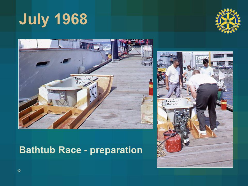 12 July 1968 Bathtub Race - preparation