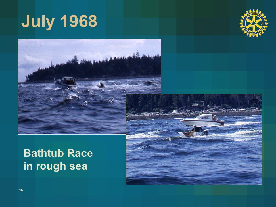 16 July 1968 Bathtub Race in rough sea