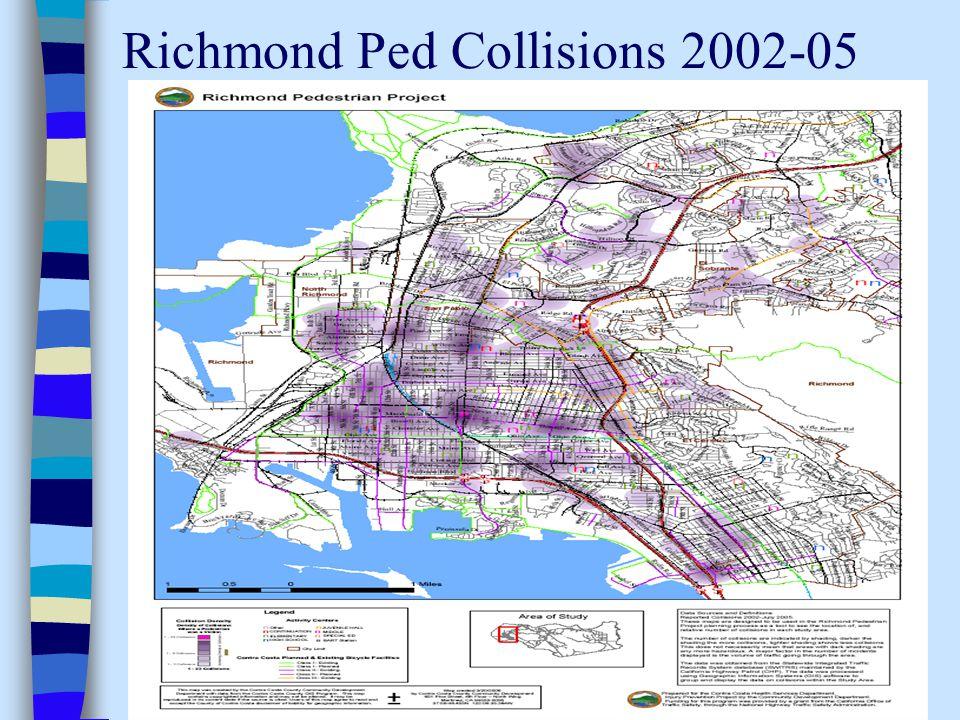 Richmond Ped Collisions 2002-05