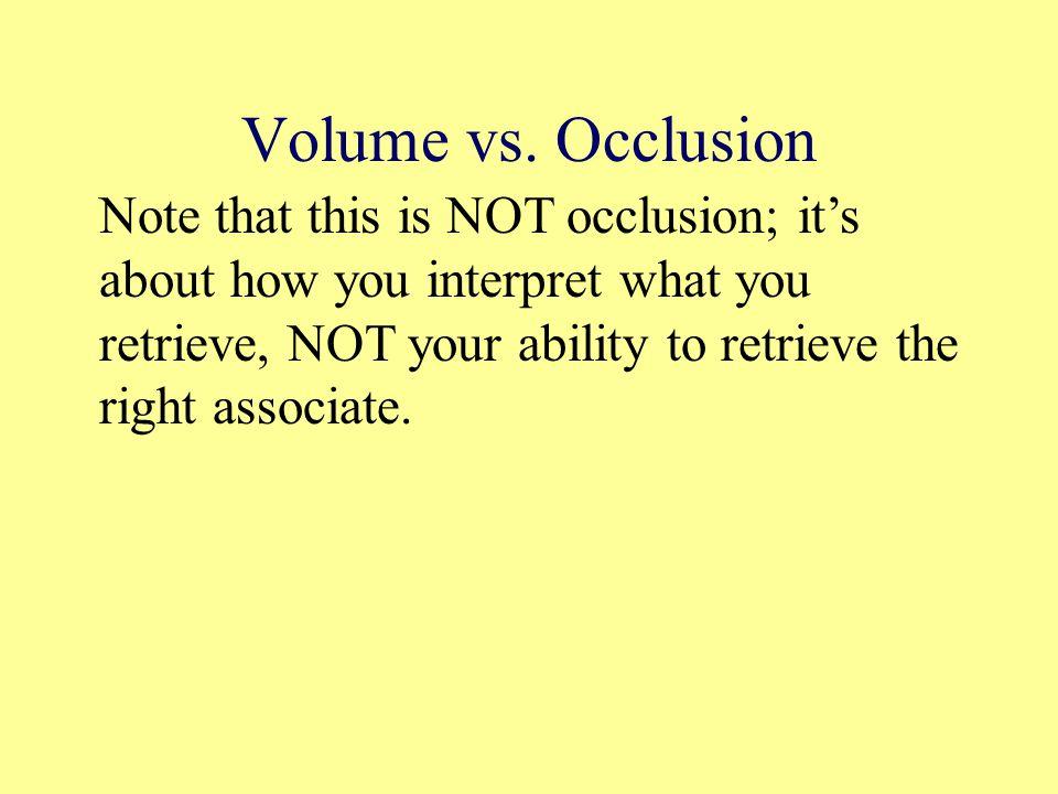 Volume vs.