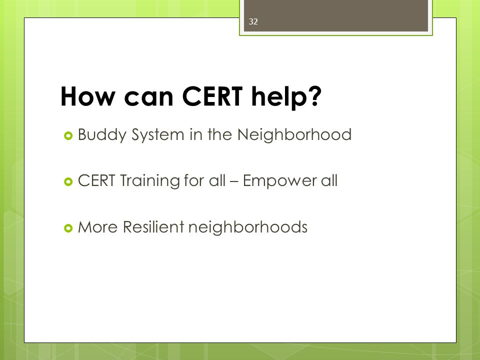 How can CERT help.