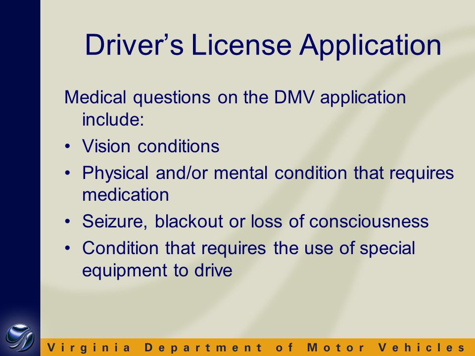 Reports of Impaired Drivers DMV receives reports from: Law enforcement Physicians Courts DMV representatives Relatives Concerned citizens