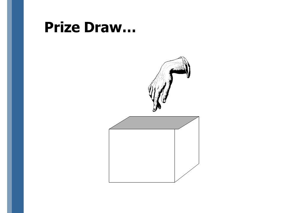 Prize Draw…