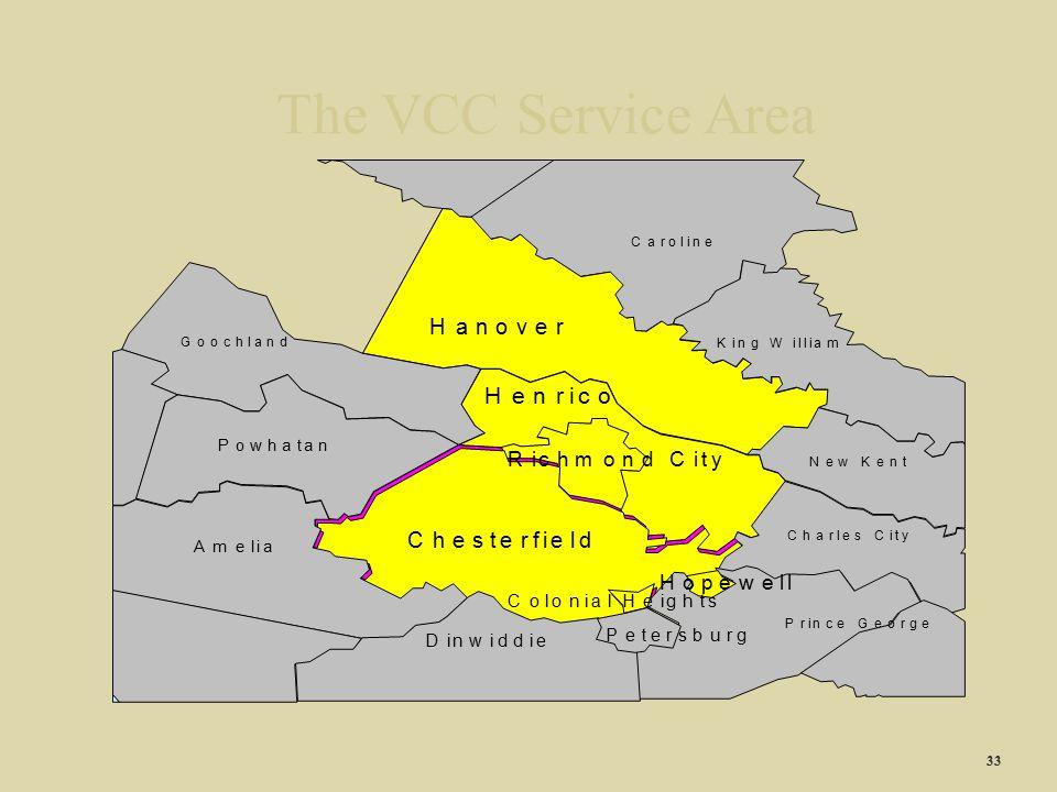 The VCC Service Area 33