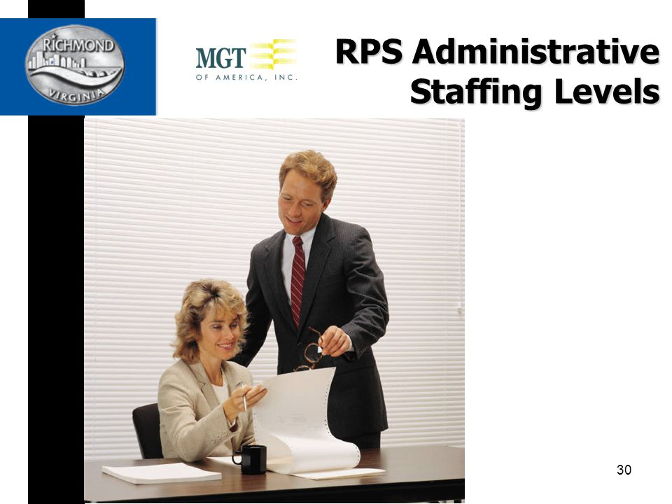 RPS Administrative Staffing Levels 30