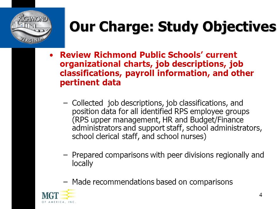 Comparisons in Administrative Staffing Richmond Public Schools and its peer divisions have factored in site conditions in their staffing decisions In comparing the administrative staffing levels of peer divisions, MGT found the following: –Except for Henrico, elementary schools have one full-time AP, regardless of school size –Middle schools have 2-3 assistant principals –High schools have 3-4 assistant principals –Some divisions also augment their secondary school administrative teams with student deans and/or administrative assistants 35