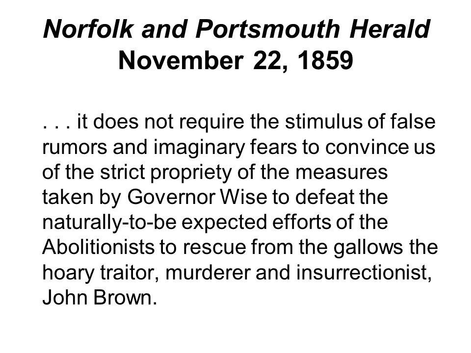Norfolk and Portsmouth Herald November 22, 1859...