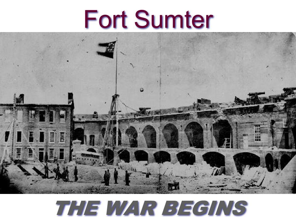 THE BATTLES AND PLACES YOU NEED TO KNOW Fort Sumter Bull Run ShilohAntietamFredericksburgChancellorsvilleGettysburgVicksburg Sherman's March Petersburg/RichmondAppomattox APRIL 12 1861