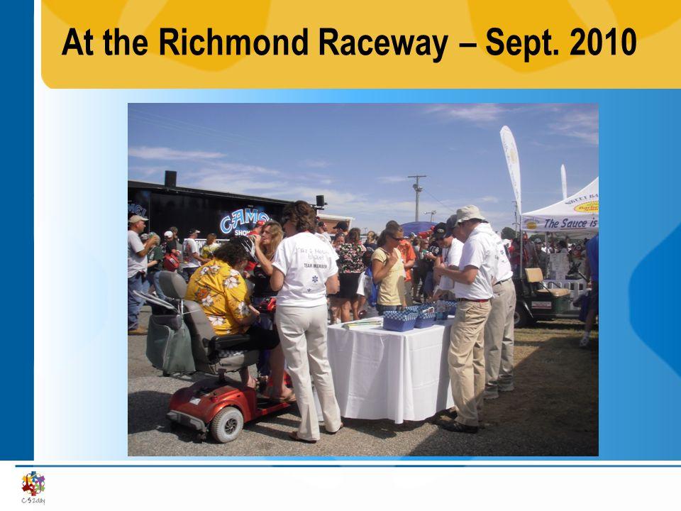 At the Richmond Raceway – Sept. 2010