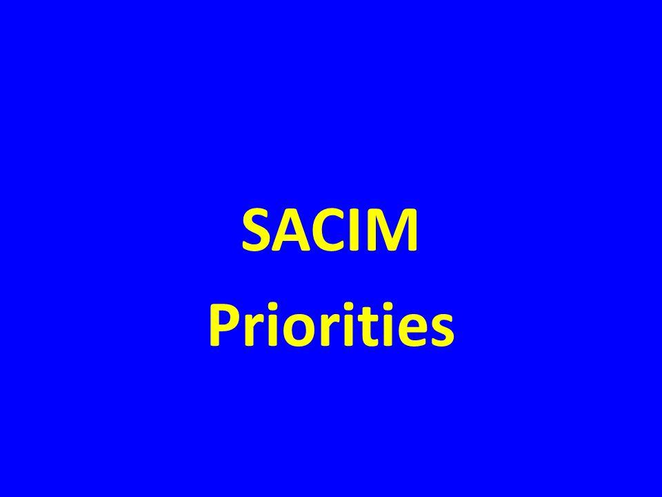 SACIM Priorities