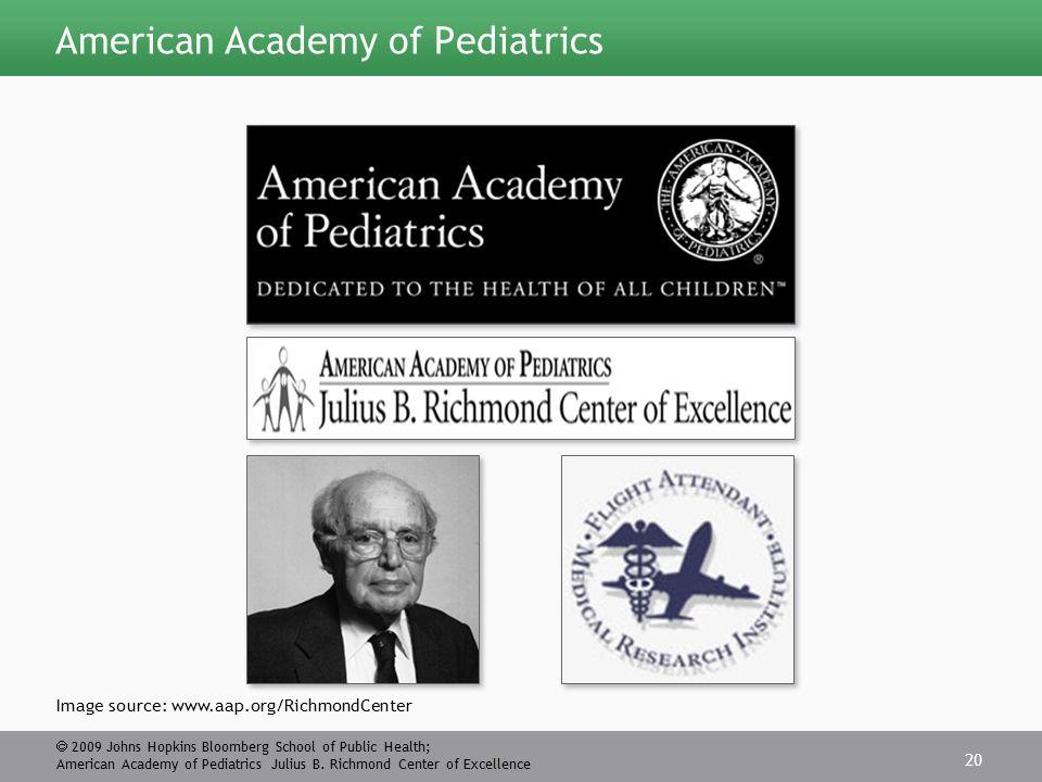  2009 Johns Hopkins Bloomberg School of Public Health; American Academy of Pediatrics Julius B.