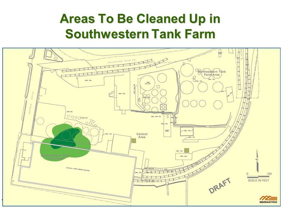 Areas To Be Cleaned Up in Southwestern Tank Farm