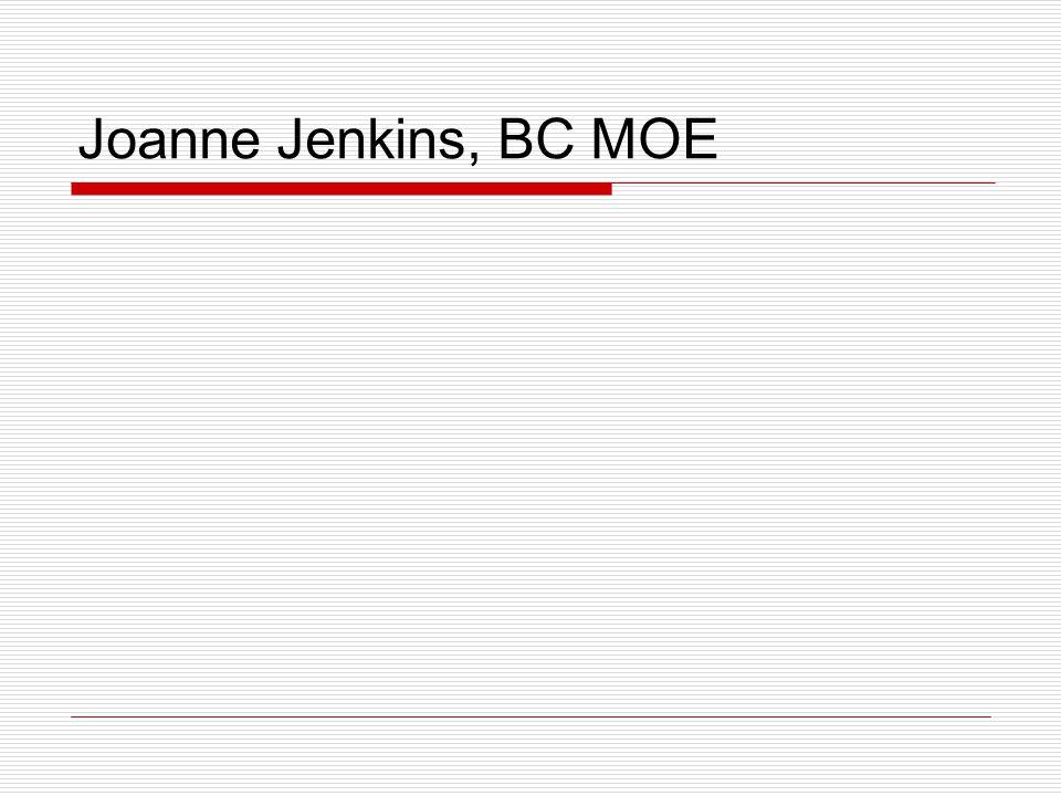 Joanne Jenkins, BC MOE