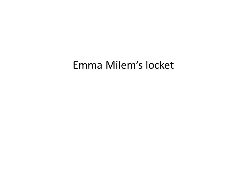 Emma Milem's locket