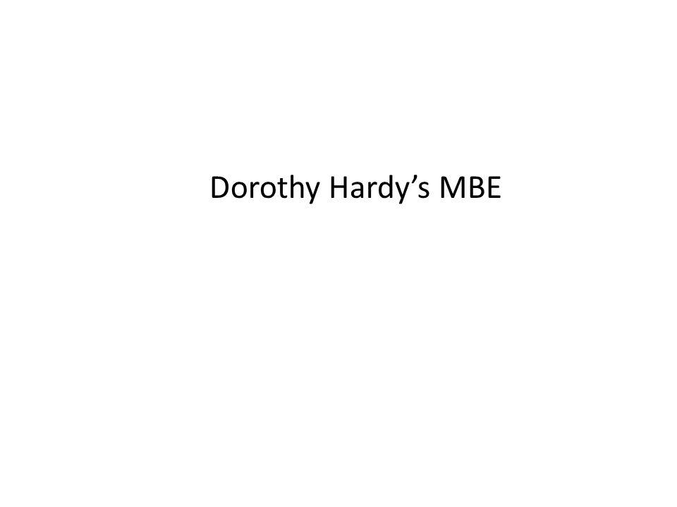 Dorothy Hardy's MBE