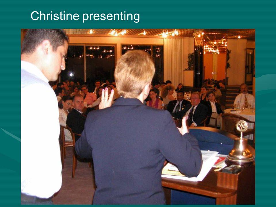 Christine presenting