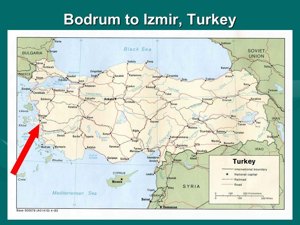 Bodrum to Izmir, Turkey