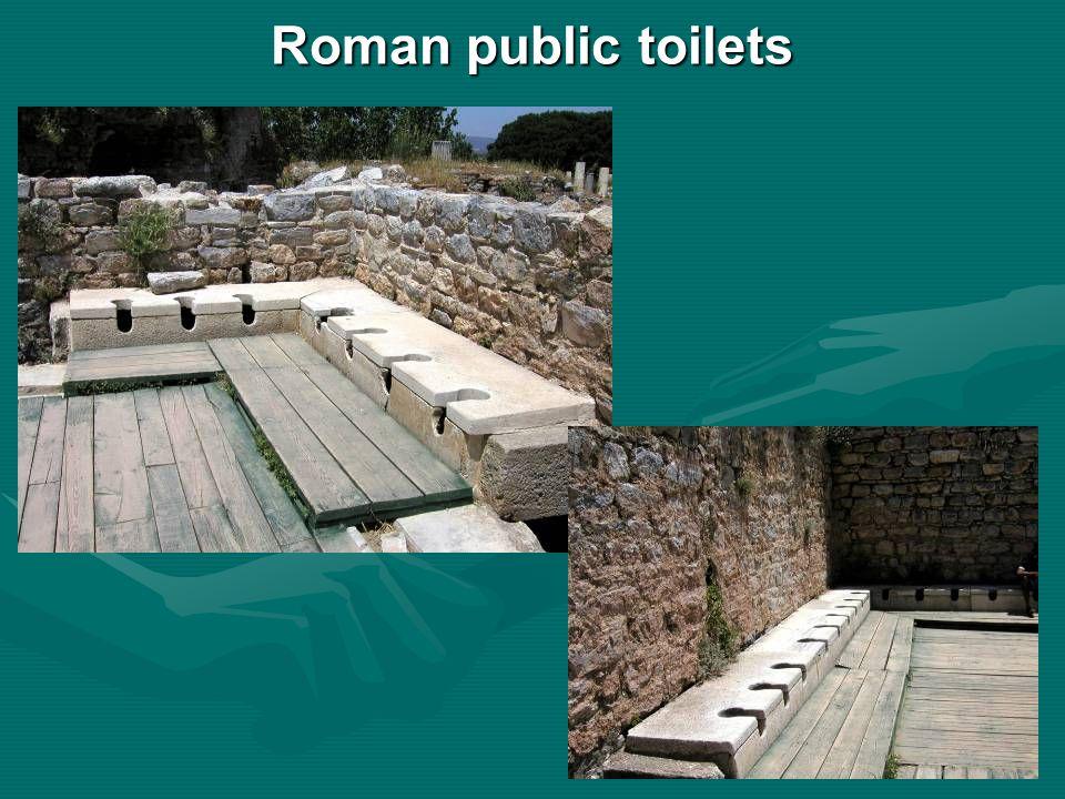 Roman public toilets