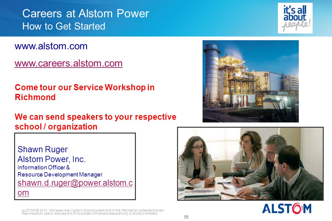 ALSTOM © 2010.We reserve all rights in this document and in the information contained therein.
