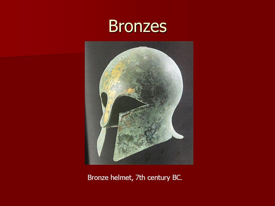 Bronzes Bronze helmet, 7th century BC.