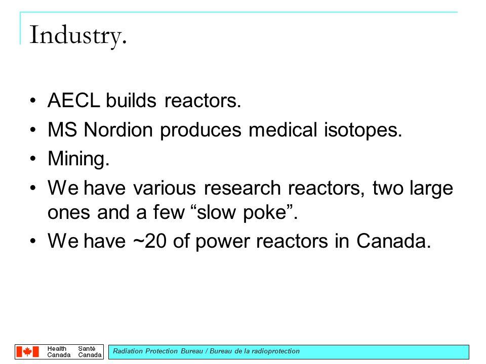 Radiation Protection Bureau / Bureau de la radioprotection Industry.