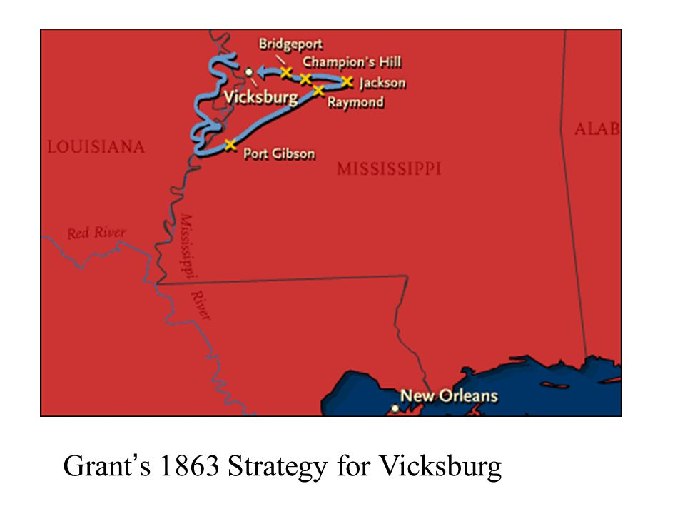 Grant's 1863 Strategy for Vicksburg