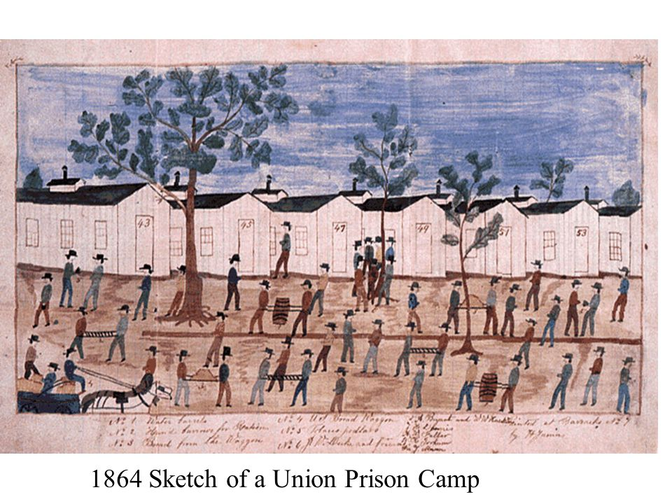 1864 Sketch of a Union Prison Camp